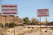 Playa Cachimba - Signs: Private Property No Access