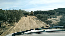 Baja - Road North of Laguna Hanson - Grader
