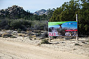 Baja - Road East of Laguna Hanson - One of Many Signs - Sign