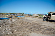 Baja - San Juan de la Costa - Road North - Washed Out Bridge - Sportsmobile