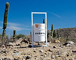 Baja - Road Inland from San Evaristo - Trash Can (Empty)