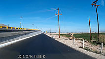 Baja - Road - Downed Power Line Hanging Low over Bridge - Bypass