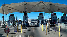Baja - Mexicali - USA Border - Calexico II - Waiting to cross into USA