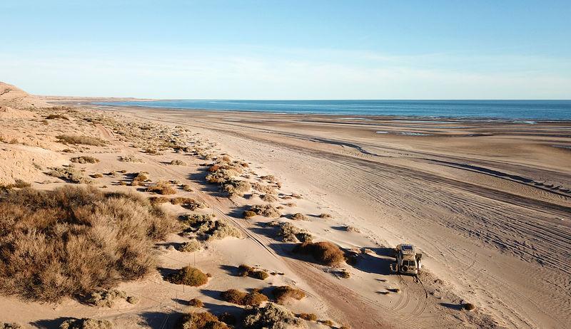 Baja El Tornillal Beach Golfo De Santa Clara Aerial