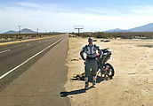 Baja - Highway 5 - Motorcycle Out of Gas - Dog - By