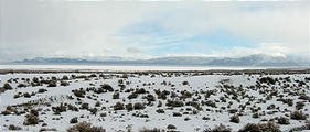 Black Rock Desert - Soldier Meadows Road - Playa Covered in Snow