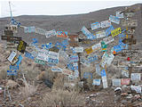 Black Rock Desert - Soldier Meadows Road - Someone's License Plates Collection at the Little Jo Mine