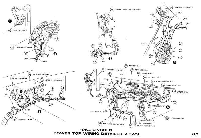 1964 Lincoln Continental - Convertible Power Top Mechanism ... on