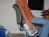 DataHand Keyboard - Mounted to Chair