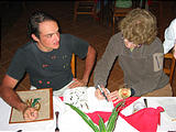 Caño Negro Natural Lodge - Dinner - Taking Notes on Birds - Esteban Dottie (Dec 29, 2005 7:45 PM)