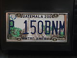 Guatemala License Plate, Featuring Tikal