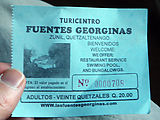 Fuentes Georginas - Hot Springs - Ticket