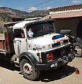 Trip back from San Francisco El Alto - Truck with Stickers