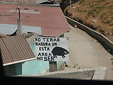 Xela (Quetzaltenango) - No Tirar Basura en Esta Area - No Ser Cerdo (Don't throw trash in this area. Don't be a pig!)