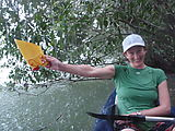 Río Dulce - Kayaking - Rain - Bailing the Kayak - Laura