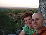 Tikal - Pyramid Ruin - Sunset - View from Temple V - Laura & Geoff