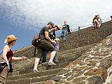 Teotihuacan - Pyramid of the Sun -  Rose - Robert - Laura - Lyra