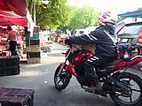 Condesa - Market - Tianguis - Motorcycle with Newspapers