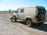Sportsmobile: Airing down the tires (road to Puertecitos, Baja California, Mexico)