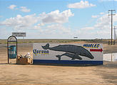 Road to Laguna Ojo de Liebre - Whales Sign (Photo Taken the Next Day)
