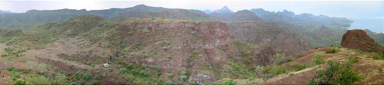 Road to Agua Verde - Campsite - View from Top of Hill (panorama)