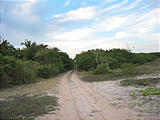 Coast West of Tuxpan - Where the Road Ends on the Beach - Looking South from the Canal de Cuautla