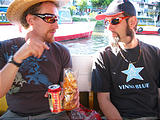 Lake Pátzcuaro Boat - Lars, Brian (photo by Geoff)