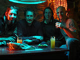 Night of the Dead - Pátzcuaro - El Sótano Bar - Brian, Lars, Marie, Geoff (photo by Geoff)