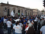 Morelia - Political Rally for Chavo Lopez Orduña (photo by Lars)