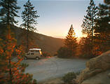 Camping Near Shaver Lake Sunset - Sportsmobile (October 03, 2004 6:32 PM)