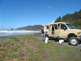 Sportsmobile: Lunch by The Shore Del Norte Coast Redwoods State Park
