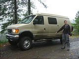 Tillamook State Forest - Laura - Muddy Sportsmobile (October 22, 2004 11:14 AM)