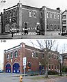 Before & After (1937 & 2009) - 15th & Harrison - Fire Station - Engine Company Seven - Side