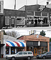 Before & After (1937 & 2009) - 407 15th Ave E - Dentist, Aronstein Delicatessen - Jim's Barber Shop, Rainbow Natural Remedies