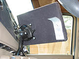 Notebook Computer Dashboard Mount - From Behind - Swivel Mount and Stability Tab