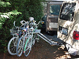 Sportsmobile - Softride Bike Rack - Down with Doors Open