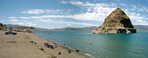 Pyramid lake swimming area (7/14 12:53 PM)