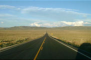 Nevada Route 50 - one of many long, long straight roads (7/14 7:36 PM)