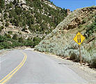Nine Mile Canyon Road - pavement ends sign (7/17 10:09 AM)