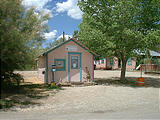 tiny pink post office in Thompsons Springs (7/20 12:23 PM)