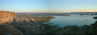 sunset over Lake Powell (7/27 7:19 PM)