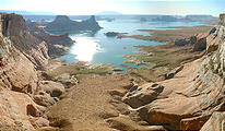 Lake Powell - viewed from Romana Mesa (7/28 7:28 AM)