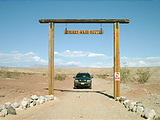 Exiting Sperry Wash - A four wheel drive club has erected a marker for Sperry Wash (8/11 4:05 PM)