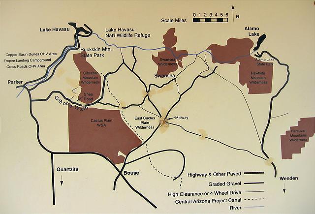 Map Of Arizona Ghost Towns.Western Arizona Southwest Road Trip 2002