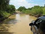 Texas - Mexican Border Road Along Rio Grande From Eagle Pass to Laredo - Jeep - Ford