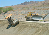 Coachella Canal Construction - Grader chained to a Bulldozer so it won't fall in (May 30, 2006 12:28 PM)