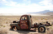 "Utah - Crater Island - Tungsten Mill - Old Truck from the ""Motor Vu"" Theater"