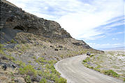 Utah - Silver Island Mountains - Large Cave by Road