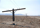 Nevada - Tungsten - Power lines after fire