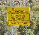 Nine Mile Canyon Road - Sign - Attention BBC - Please Drive Safe (1:56 PM Oct 5, 2005)